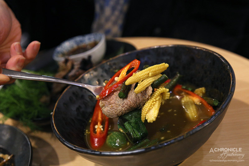 Spring and Summer - Sirloin beef jungle curry ($19)