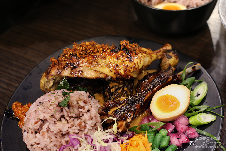 Aunty Franklee - Stewed in 23 herbs and spices, chargrilled turmeric chicken, beef ribs, lamb ribs