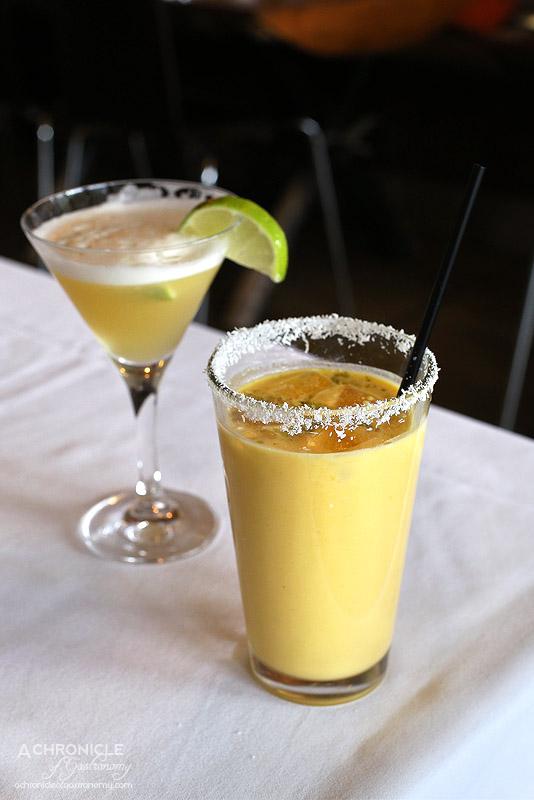 Bhoj - Mango and cardamom lassi ($5,50), Whiskey Sour ($9.50)