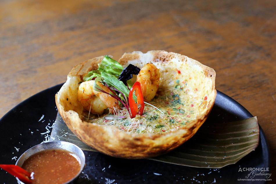 Pavlov's Duck - Prawn omelette hopper w house-made tomato relish ($10)