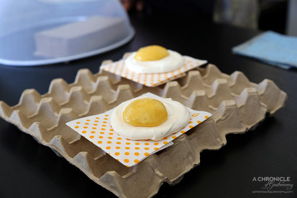 Good Egg - April fools fried egg (meringue w lemon curd, $3.50)