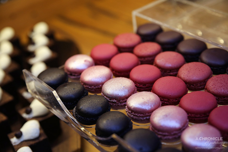 InterContinental Melbourne High Tea at Alluvial - Fruity macarons