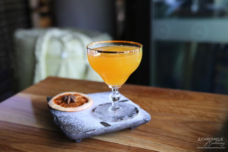 Sake - The Nadal - Mezcal Monte Alban, Kirinzan Blue, yuzu, passionfruit, shiso umeshu ($20)