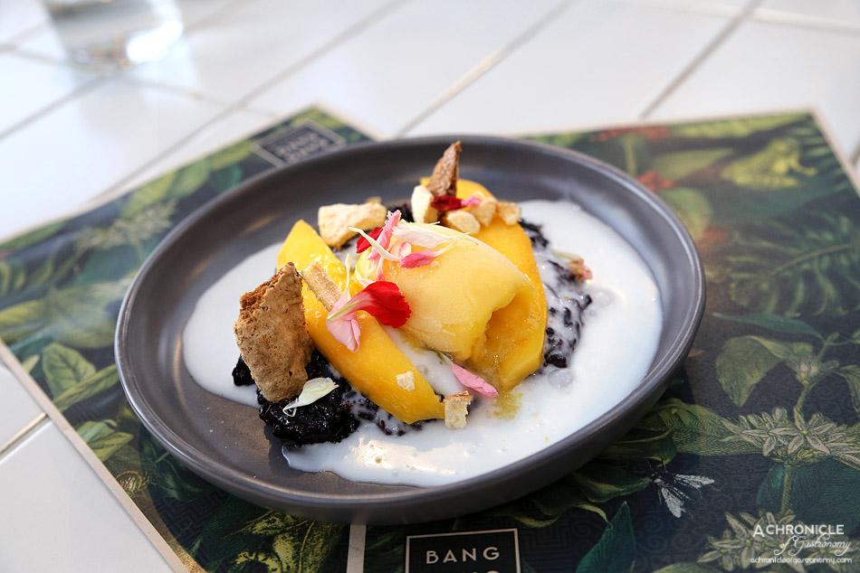 Bang Bang at the RC - Black Sticky Rice - Pandan sweet cream, mango, coconut sorbet ($13)