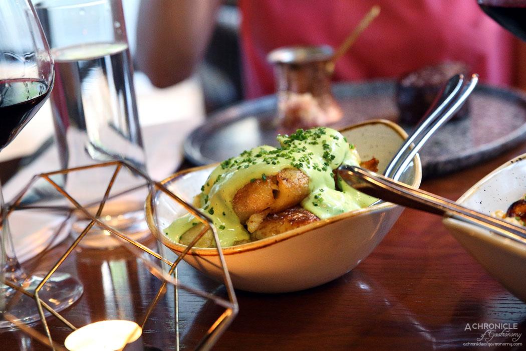Dutchess - Sauteed chat potato, sour cream, chives ($12)