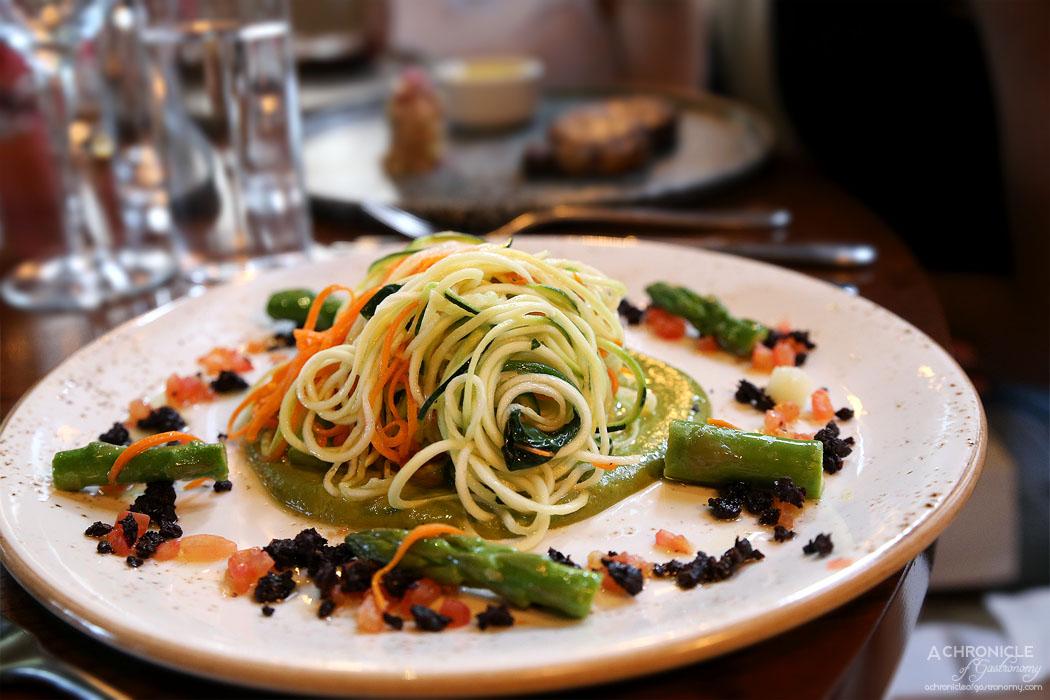 Dutchess - Zucchini spaghetti, salsa verde, asparagus, tomato, olive ($23)