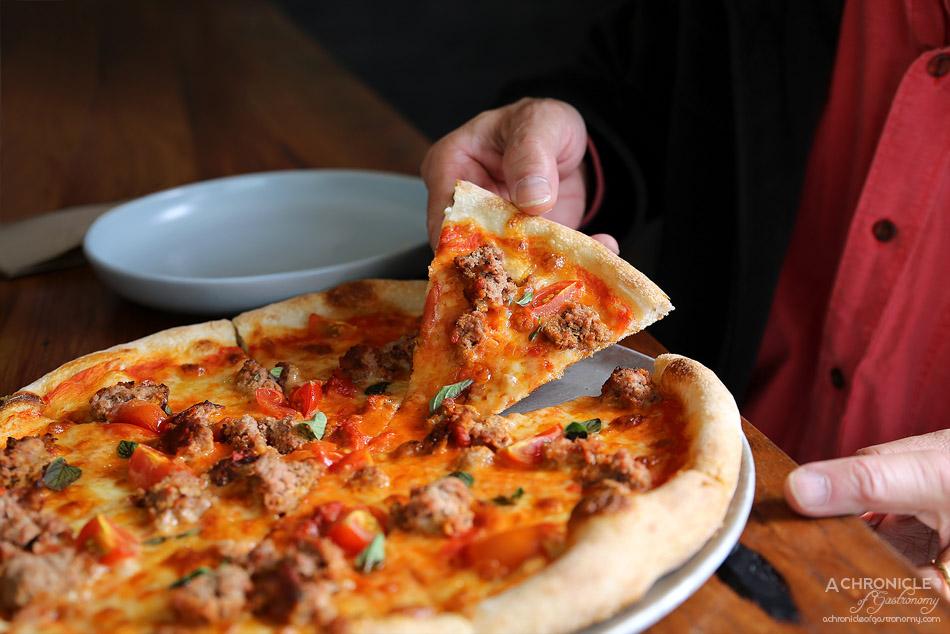 Small Print Pizza - Kangaroo - Kangaroo Meatball, Tomato, Mozzarella & Oregano ($22)