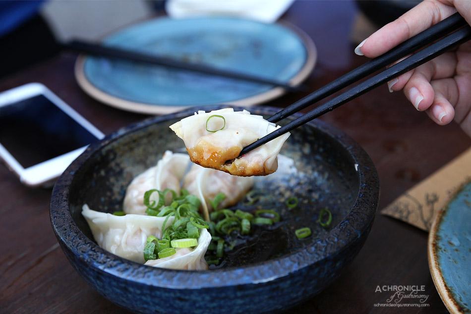 West of Kin - Pork and house kimchi gyoza, ponzu sauce