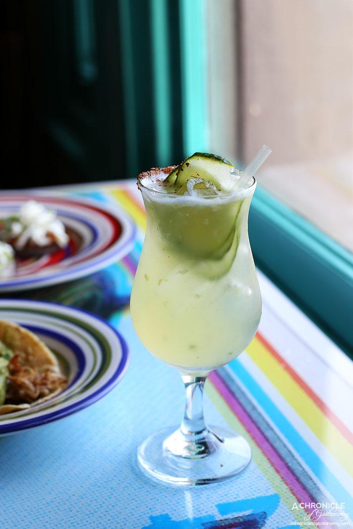 El Sabor by El Cielo - Kook Hombre - Zignum mezcal, cucumber, lime, agave nectar, tajin ($15)