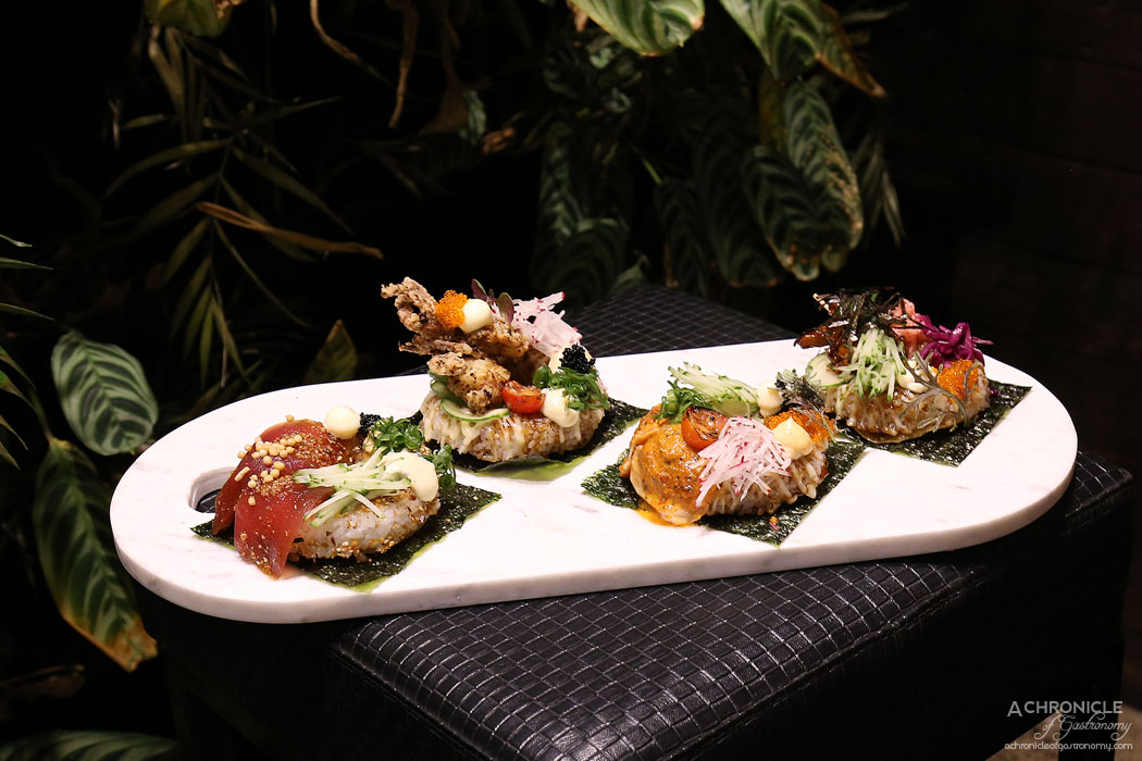 Sea Salt - Sushi Doughnuts - Tuna, Soft Shell Crab, Chicken