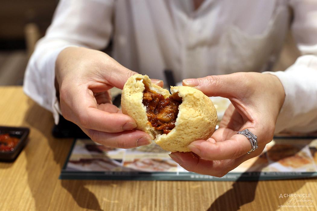 Tim Ho Wan - Baked bun w BBQ pork ($7,80)