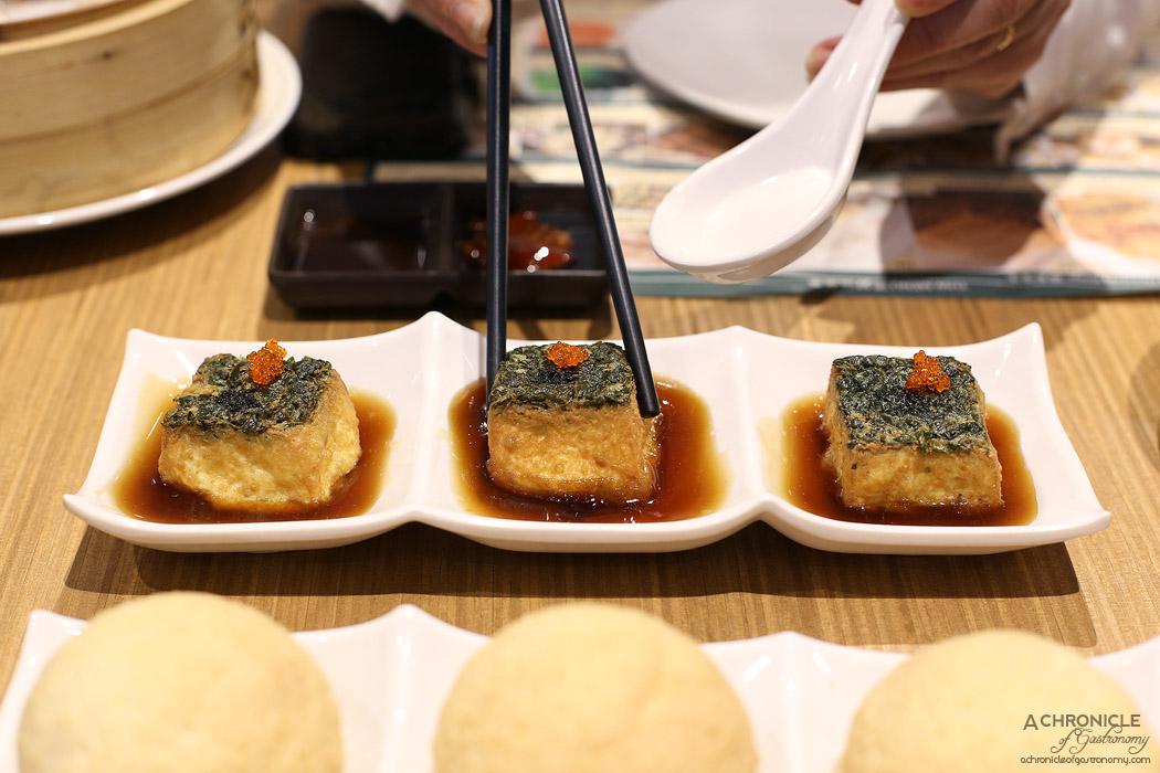Tim Ho Wan - Tofu w black truffle ($8.80)
