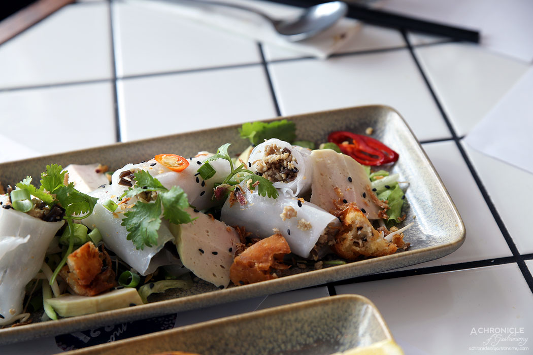 Mamas Buoi Chadstone - Banh cuon - rice noodle filled with pork, mushrooms & fried shallots $15