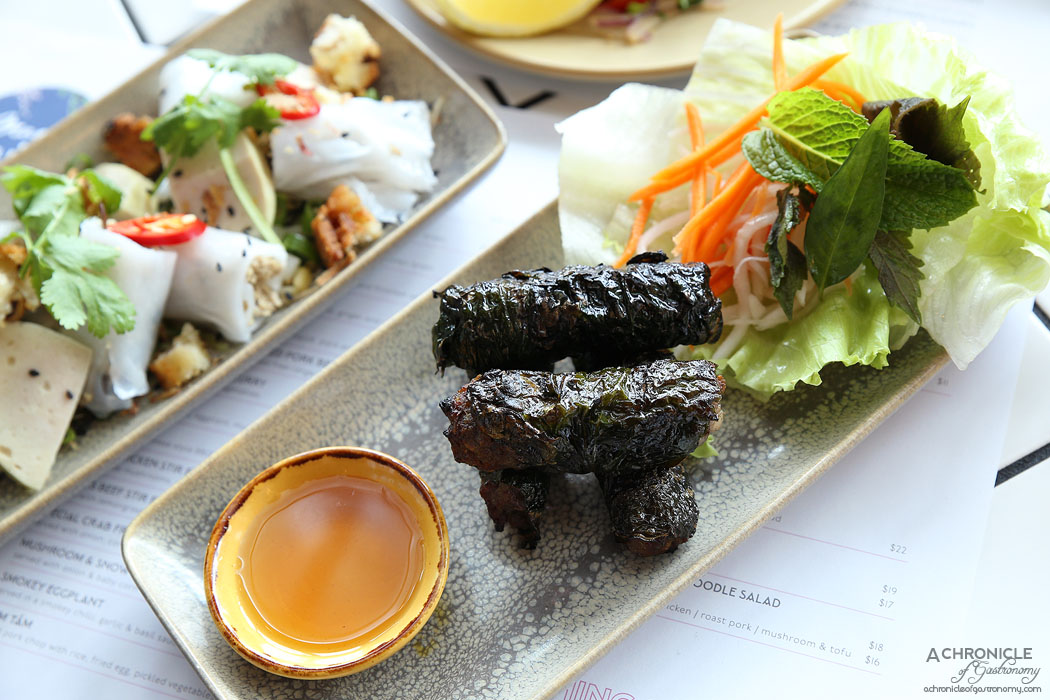 Mamas Buoi Chadstone - Beef betel leaf parcels - fragrantly seasoned grilled rolls of beef $14