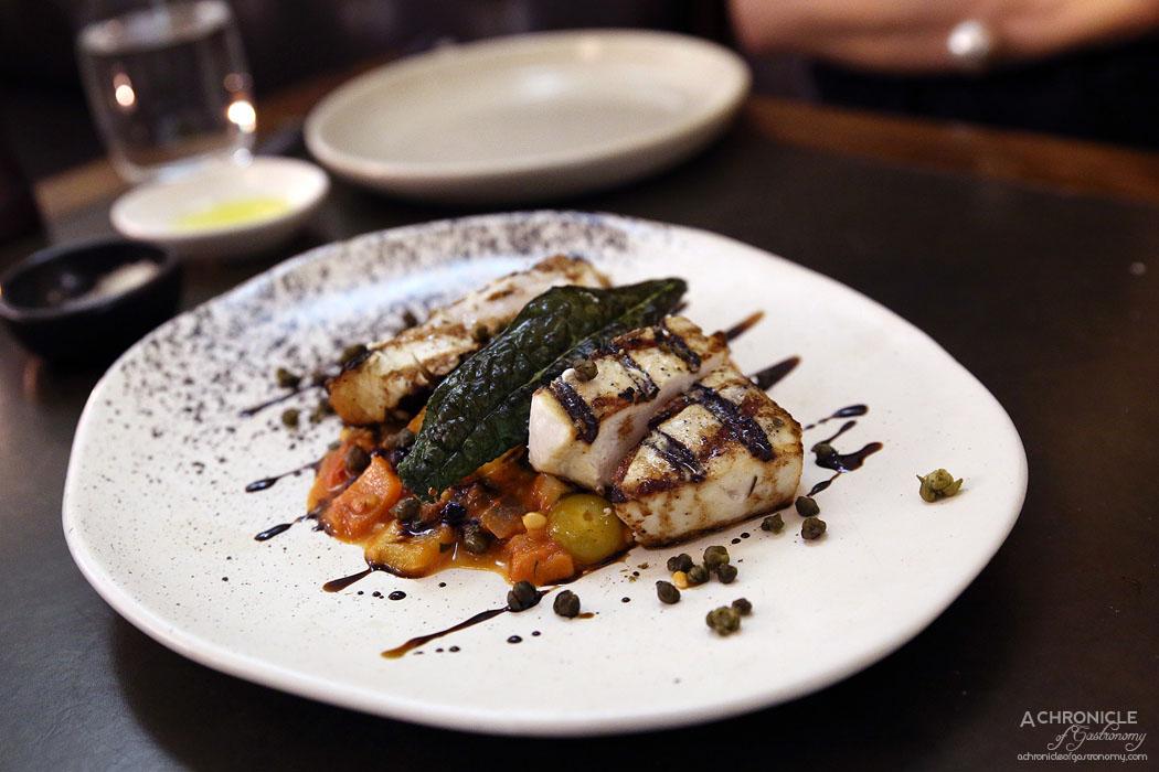 Massi - Swordfish w sicilian caponata and fried capers ($33)