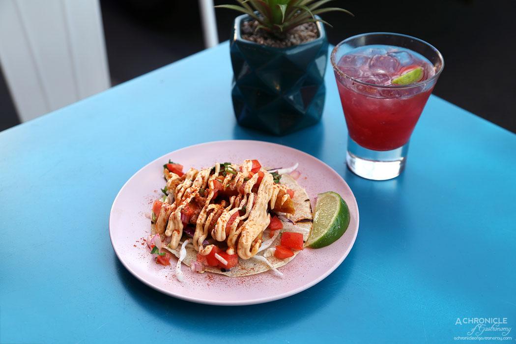 Paloma Cantina - Battered fish taco w cabbage, chipotle mayo, pico de gallo ($7)