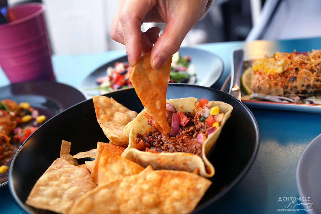 Paloma Cantina - Chilli Con Carne Dip - Beef mince, chilli, beans, corn chips ($9.50)