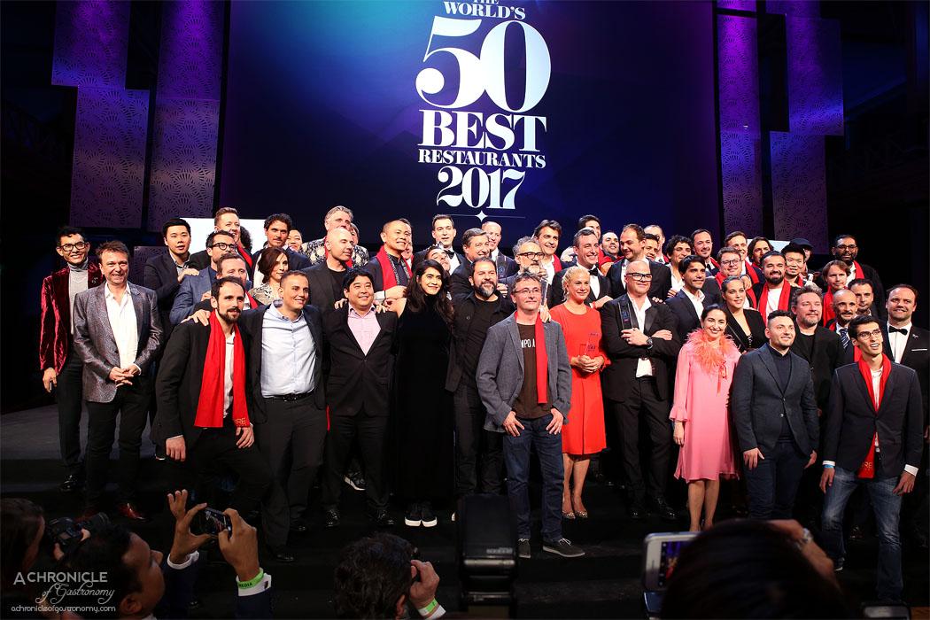 World's 50 Best Restaurants 2017 Melbourne - Winners Group Photo