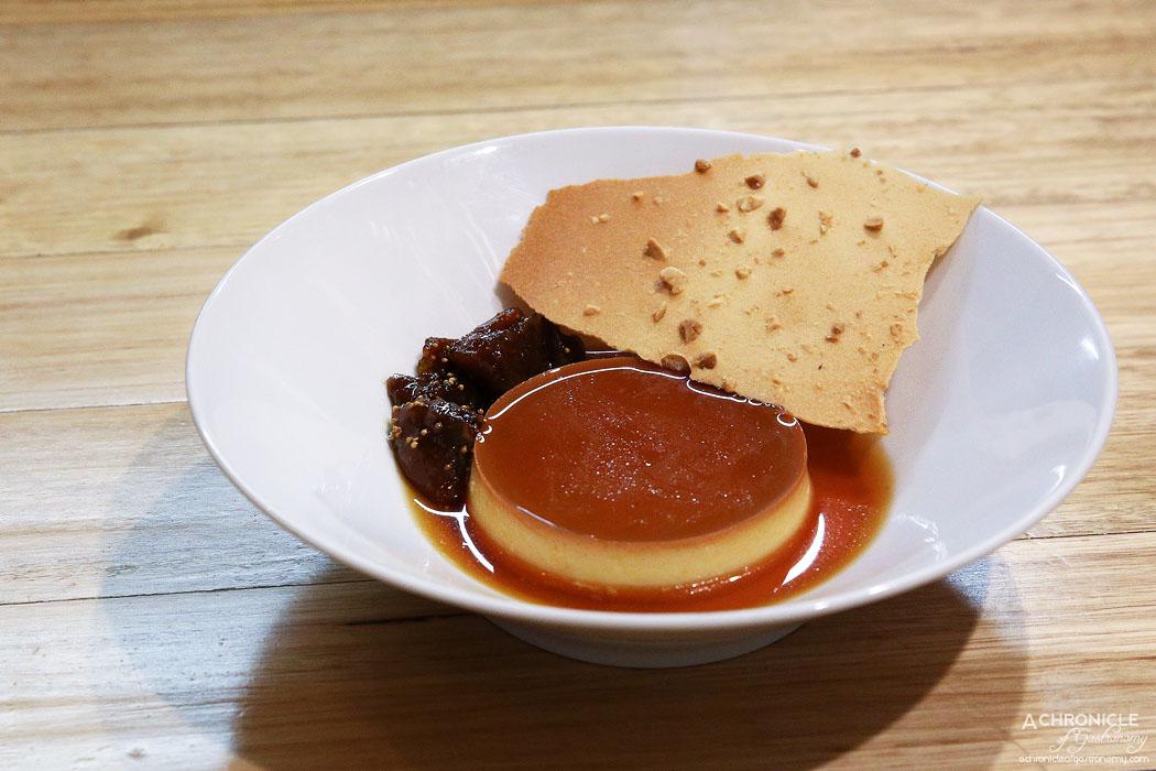 An Uong - Banh Flan - Vietnamese creme caramel w burnt figs ($12)