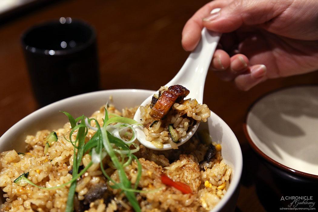 Hibachi - Unagi yaki meshi - Eel fried rice w egg and kabayaki sauce ($25.80)