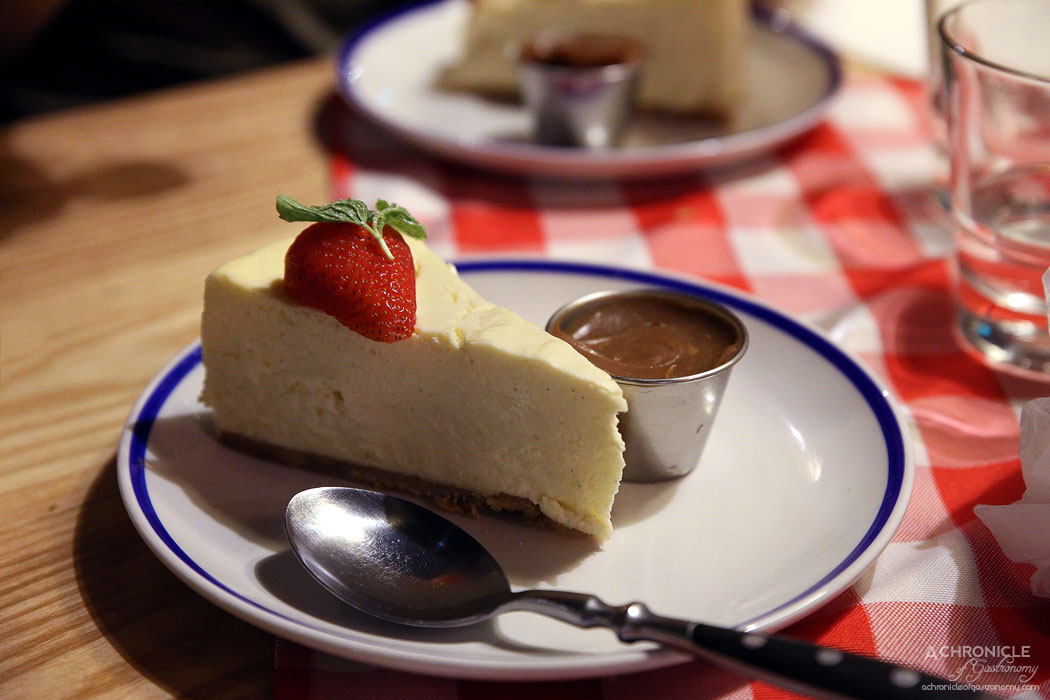Munich Brauhaus - NY style cheese cake with salted caramel