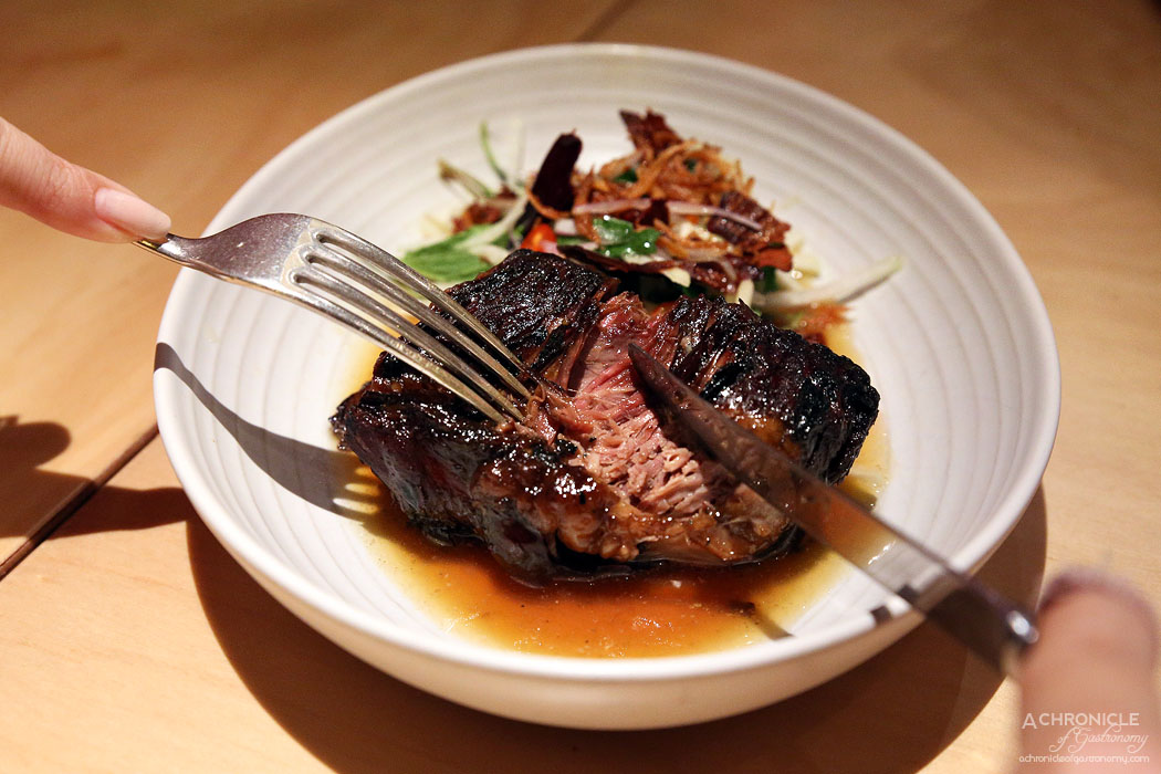 Tenpin - Sticky braised beef rib with hot and sour kohlrabi salad