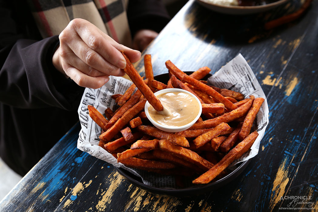 Boot Factory - Sweet potato fries with chipotle aioli ($8.50)