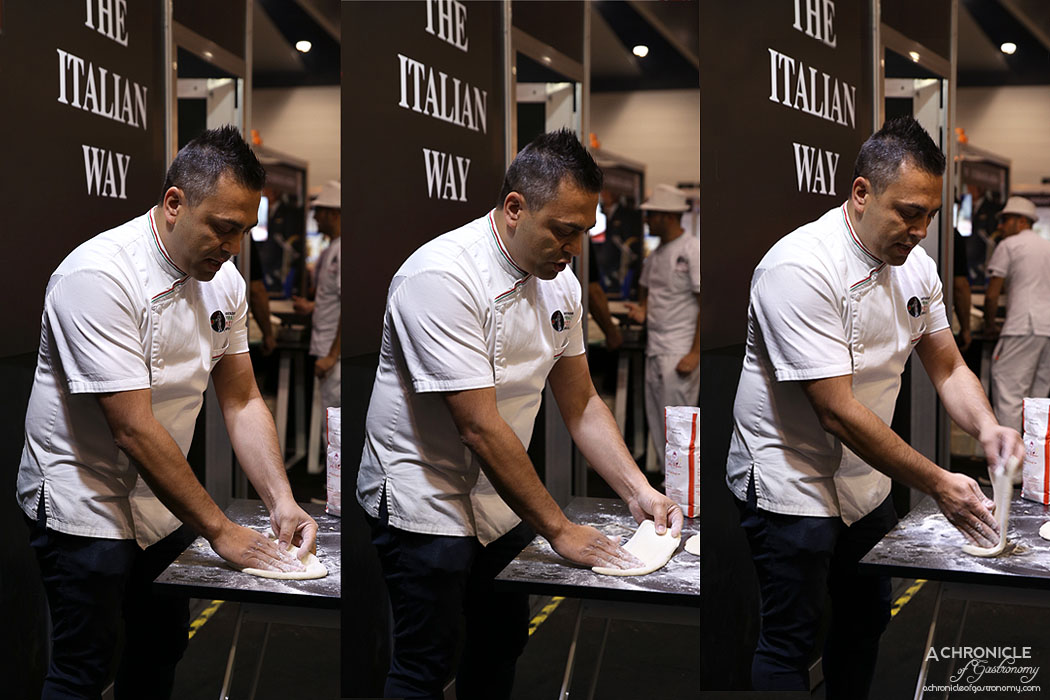 Good Food and Wine Show Melbourne 2017 - Pizza dough demo by Johnny Di Francesco