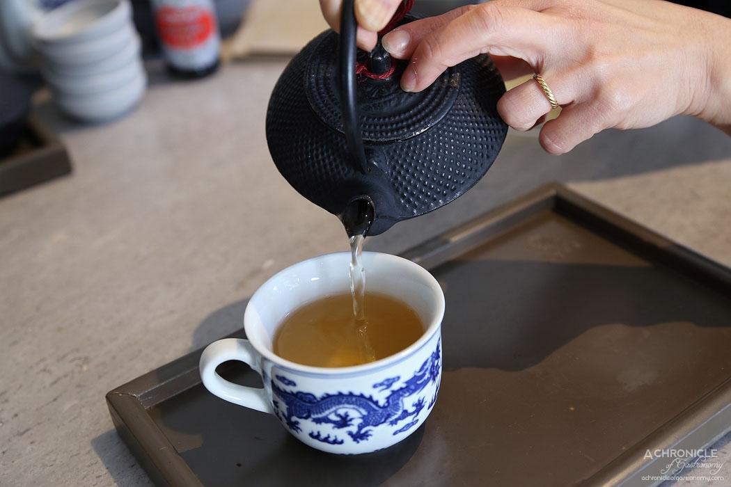 Oriental Teahouse - Bi Luo Chun green tea ($5.50)