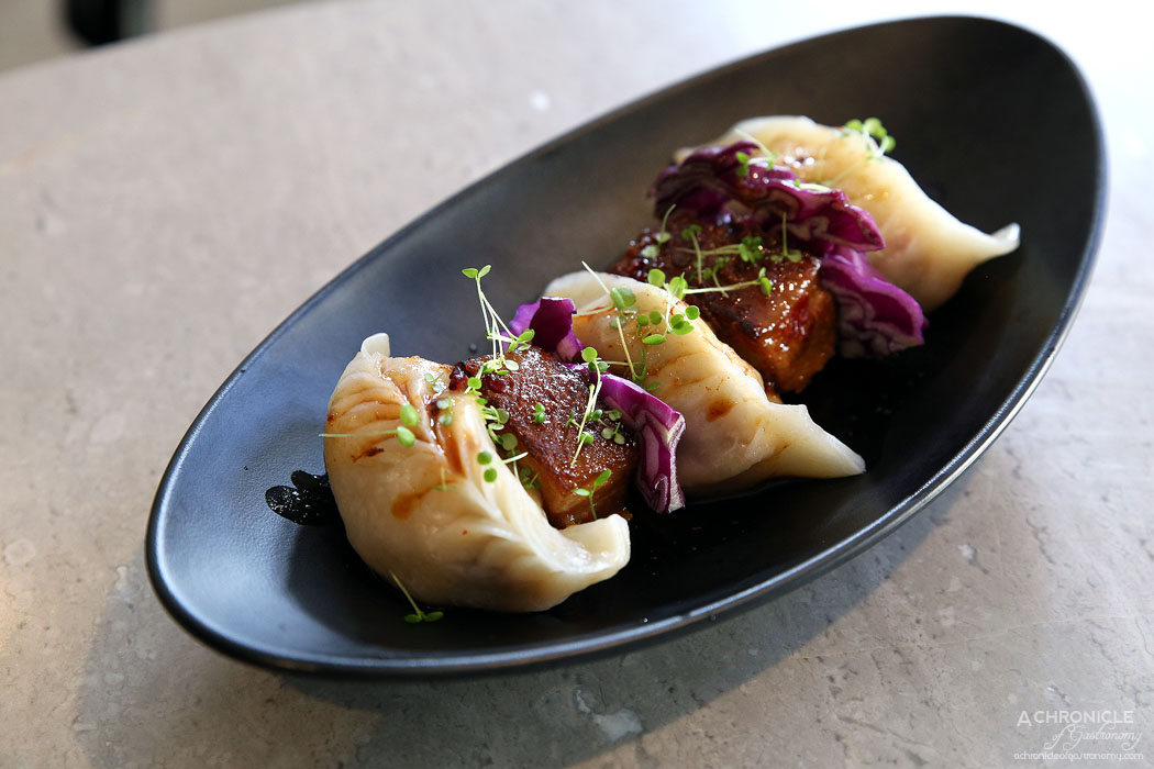 Oriental Teahouse - Flame Thrower Pulled Pork Dumplings & Slices Of Pork Belly (3 for $15.80)