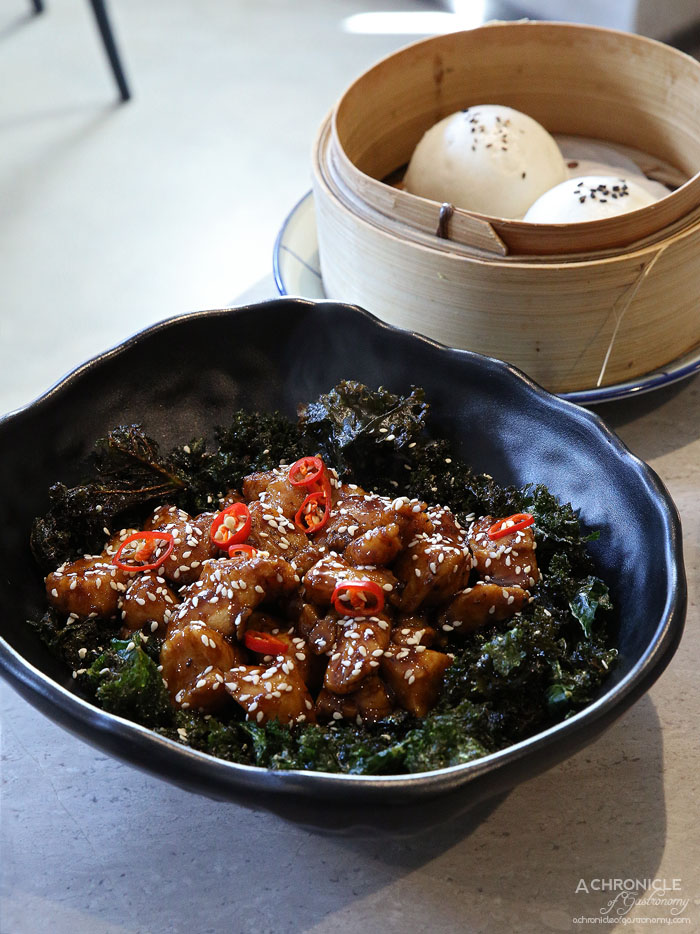 Oriental Teahouse - Pepper Chicken - Chicken Breast Marinated With Ground Toasted Szechuan Peppers, Lightly Stir Fried With Pepper Sauce & Stirred Through With Kale ($14.80)