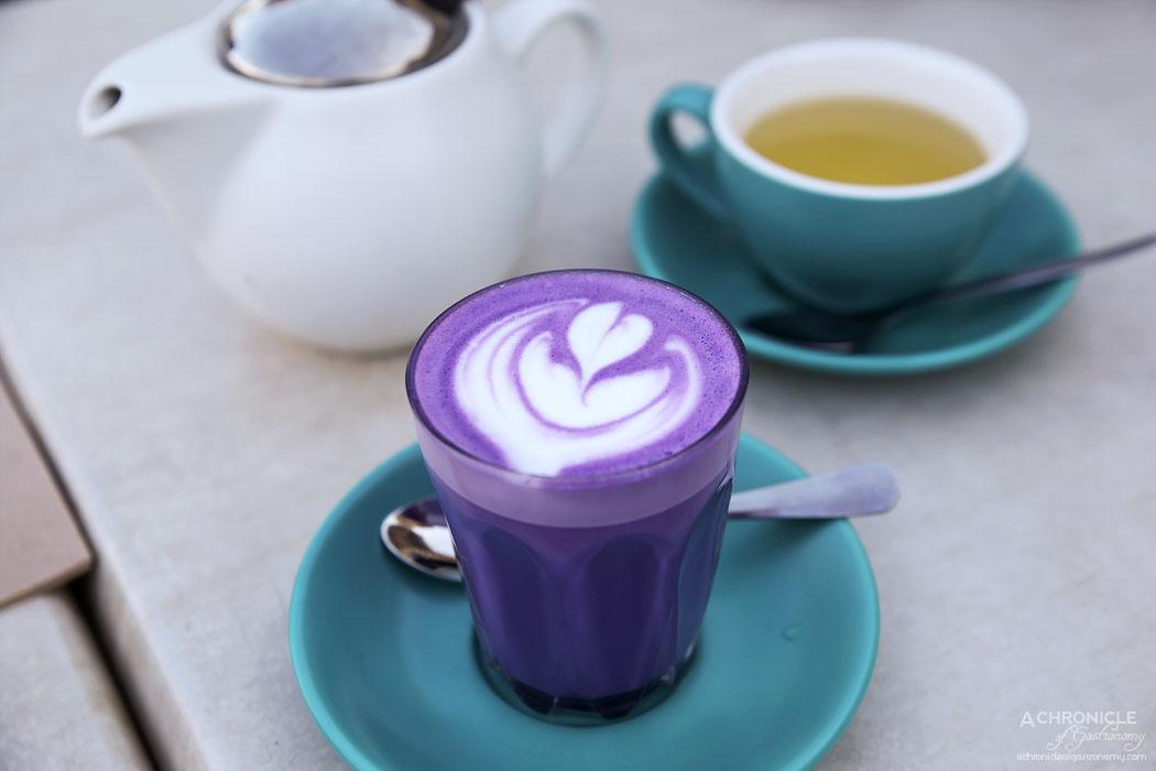 The Butler's Den - Taro latte ($6)
