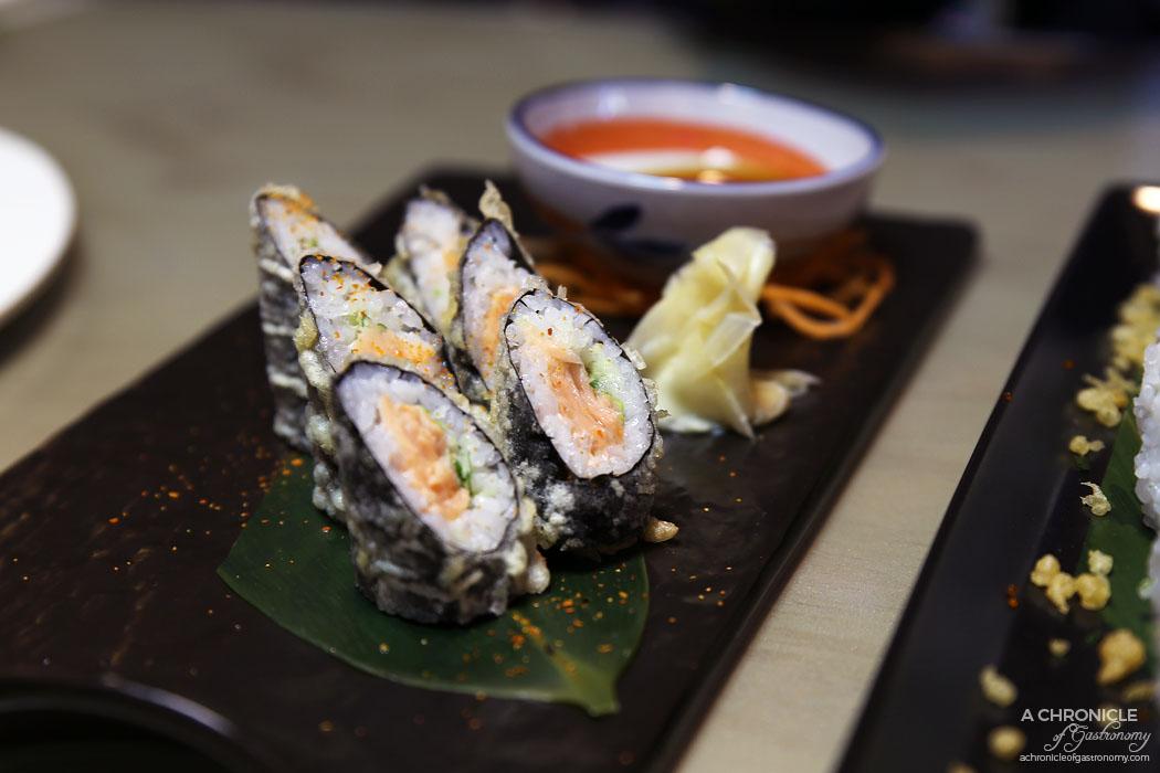 Aoki - Tempura Salmon Maki ($15.90)