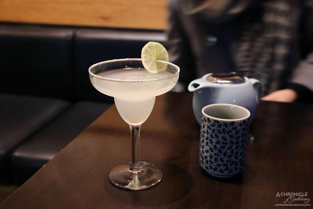 Machi - Wasabi Margarita - Tequila, lime juice, cointreau, wasabi salt rim ($18)