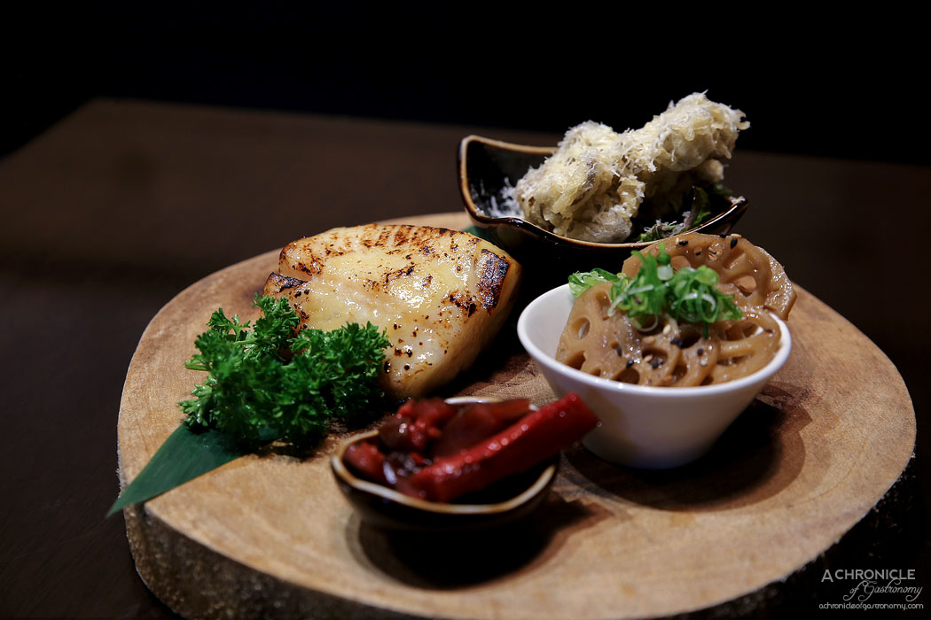 Machi - Miso Black Cod - Miso marinated black cod oven-cooked, served w Chef's choice side dish ($36)
