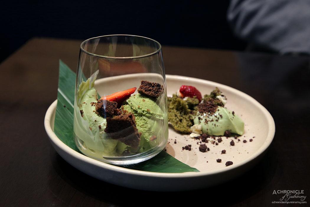 Machi - Green Tea Tiramisu - Coffee crunch, green tea tiramisu ($9.80)