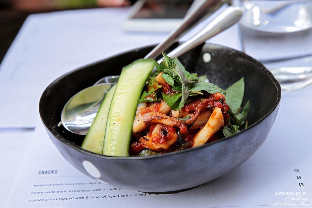 Rice Paper Sister - Wok-tossed Port Phillip calamari, Malaysian fiery and smoky red sambal sauce ($16)