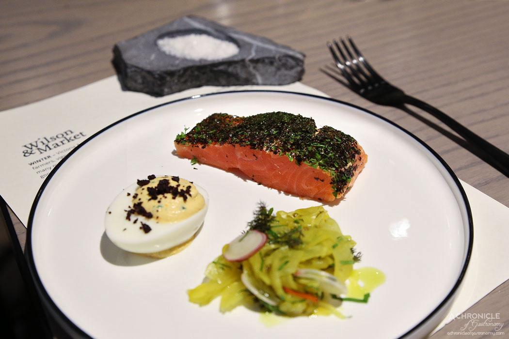 Wilson & Market Brasserie - Smoked Petuna ocean trout & devilled egg