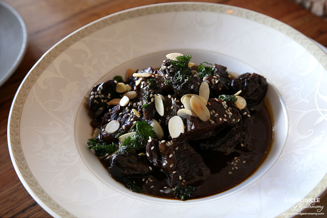 Camus - Braised beef tagine with dates ($36)