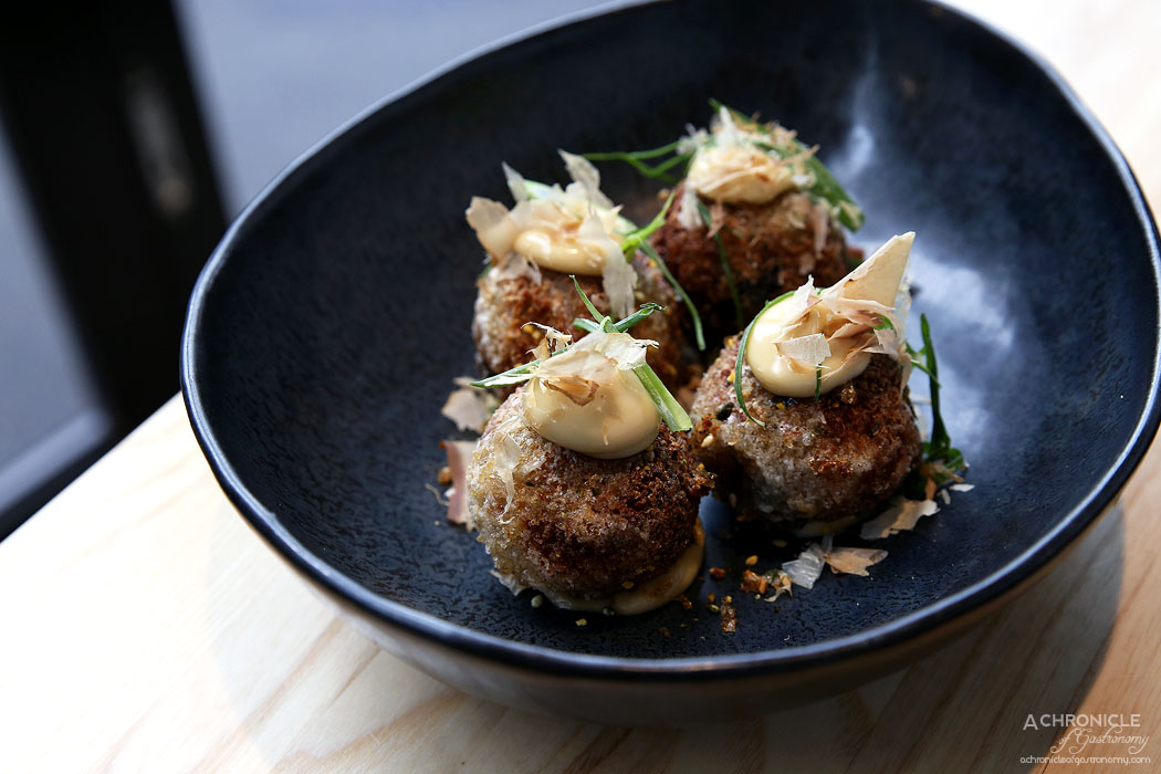 Light Years - Quinoa & broccoli balls w unagi mayo ($6)