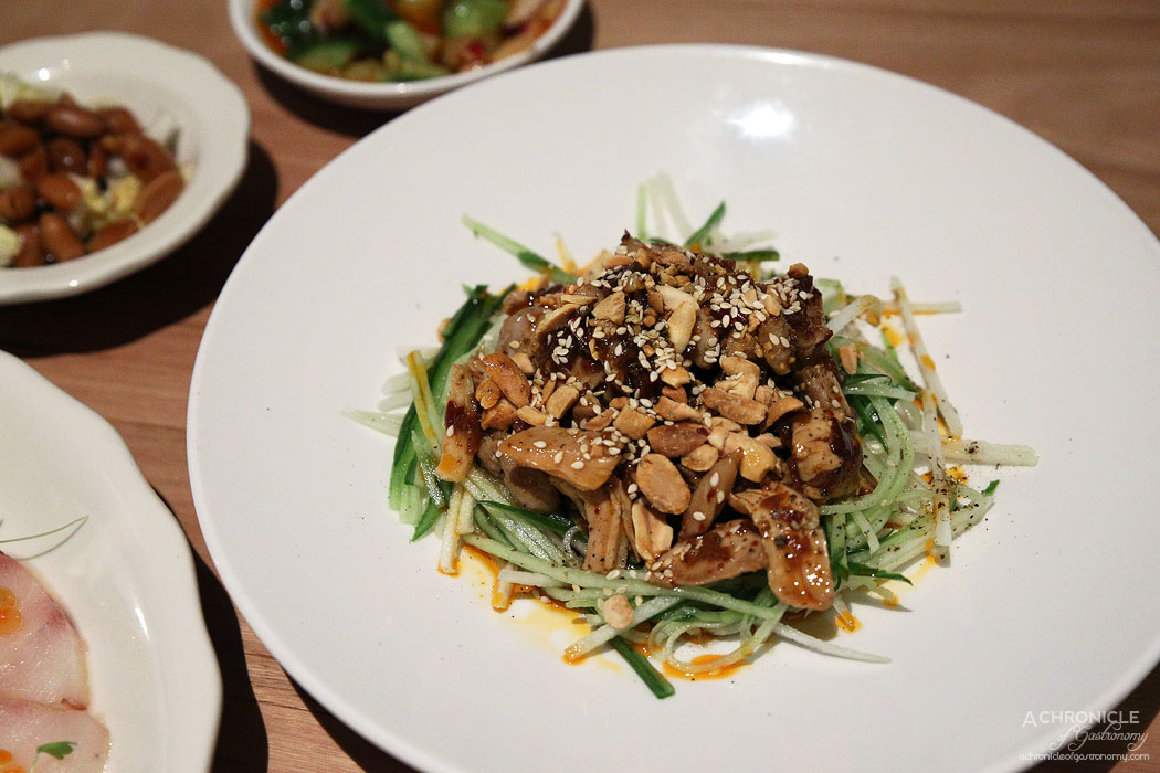 Ricky and Pinky - Sichuan chicken salad, mala dressing, peanuts