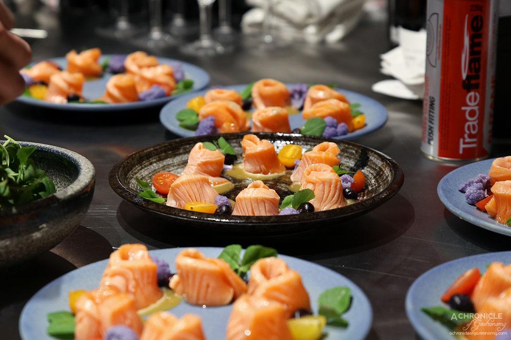 The Modern Eatery (14) Aburi Salmon Sashimi w Miso Sauce ($14)