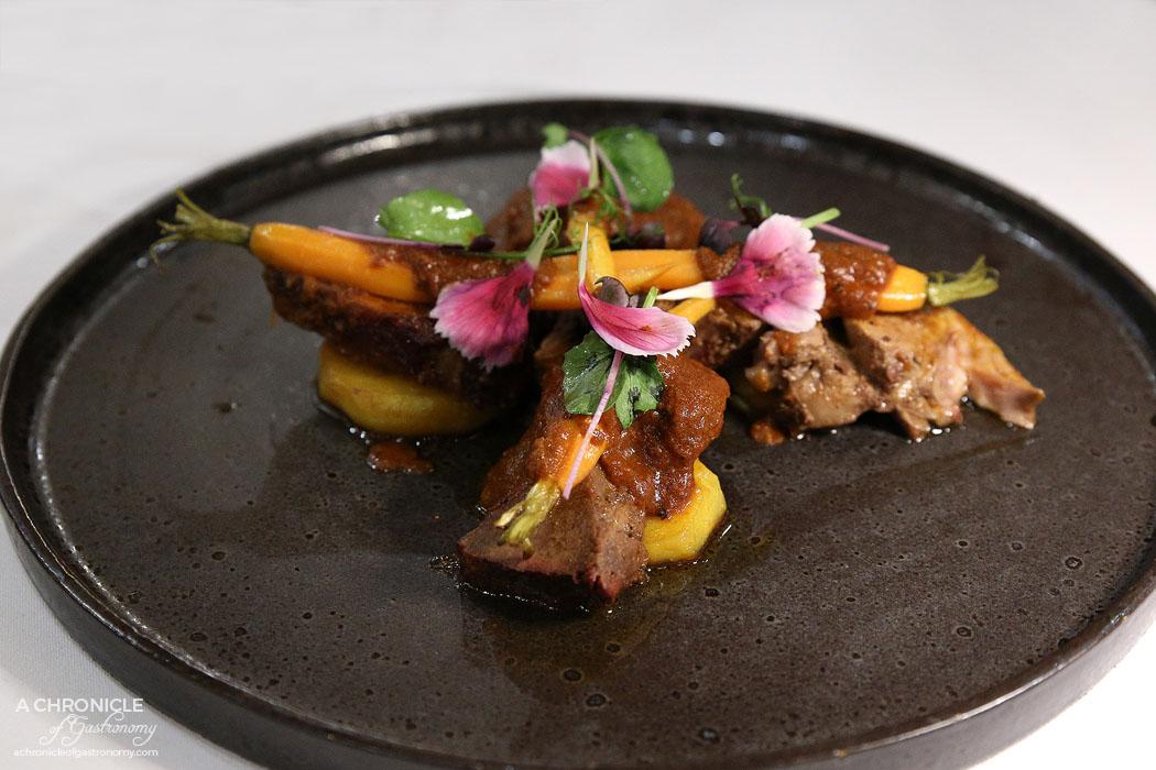 Atta - Sikandari Raan - Braised leg of lamb, sous vide Dutch carrots, herb potato, mint chutney