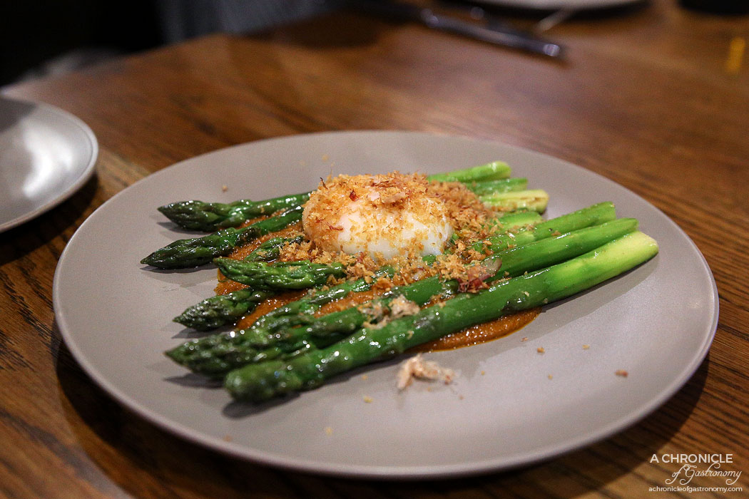 Dalchini Pop-up - New season asparagus, coddled egg, makhani
