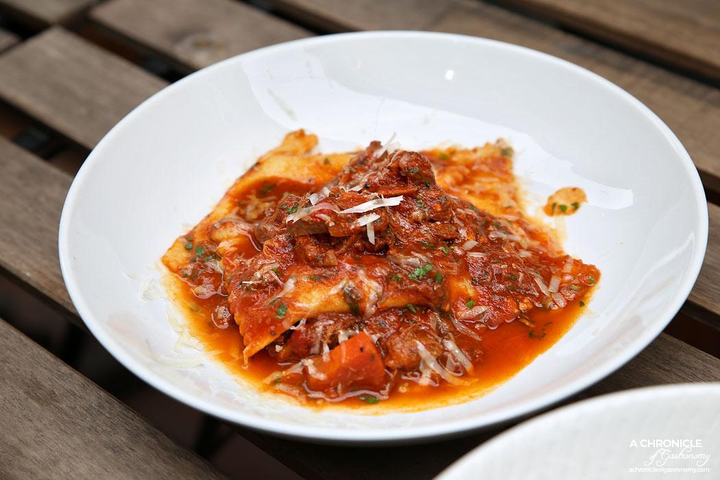 Il Melograno - Tortelloni di Ricotta - Housemade ricotta tortelloni with osso buco ragu ($28)