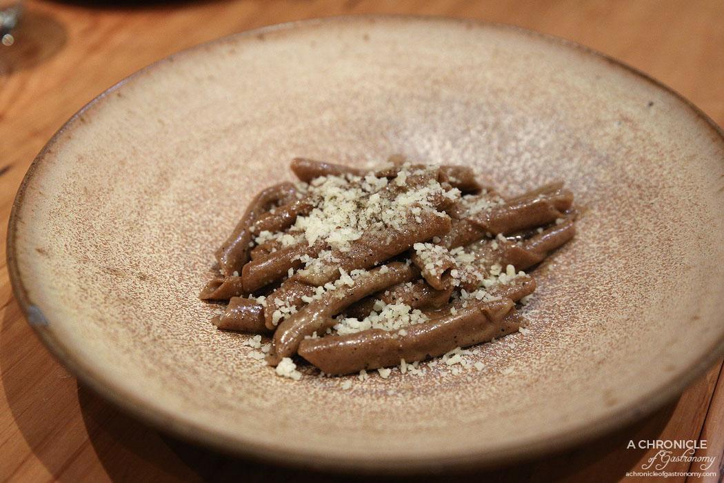 Lello - Arso Casarecce Caccio e Pepe - Burnt grain flour casarecce with pecorino, parmesan & cracked pepper ($28.80)