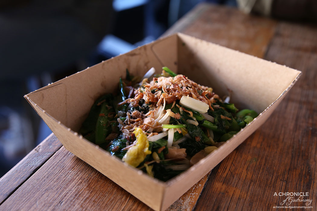 Rice Paper Scissors Fitzroy - Spring Yum Cha - Phat Gai Choy - Wok-tossed asian greens with fresh shiitake mushrooms in special sauce