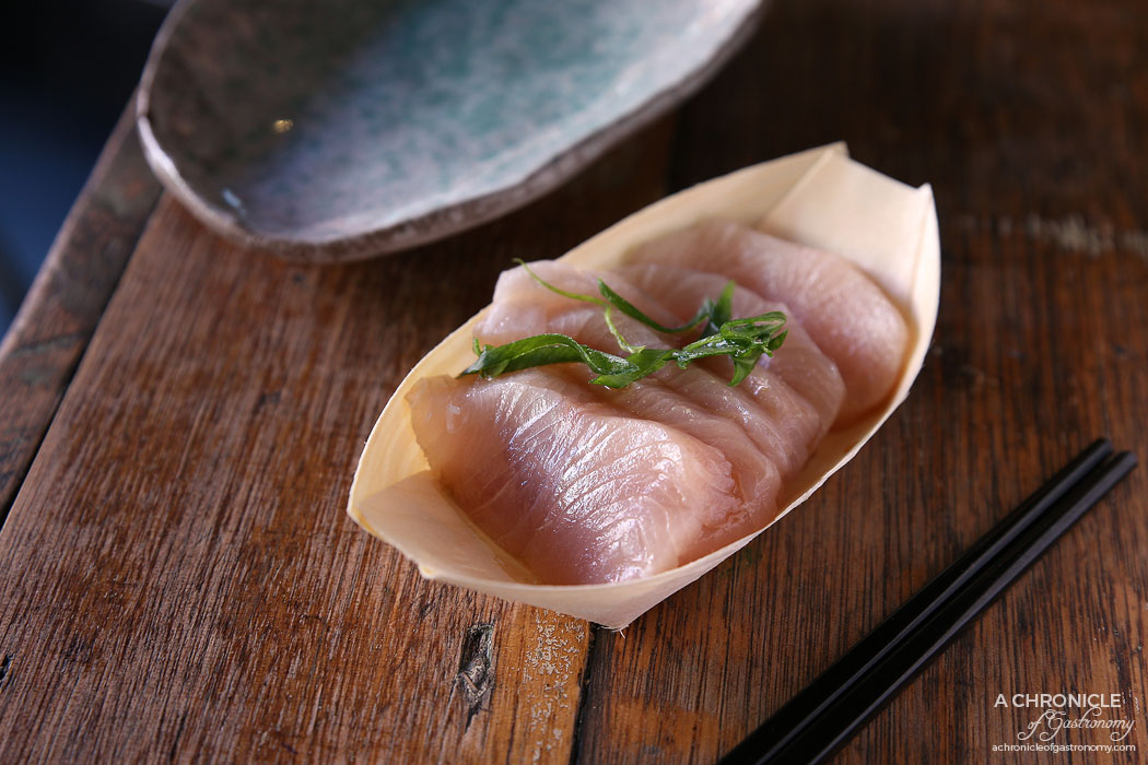 Rice Paper Scissors Fitzroy - Spring Yum Cha - Kingfish Sashimi, wasabi and soy