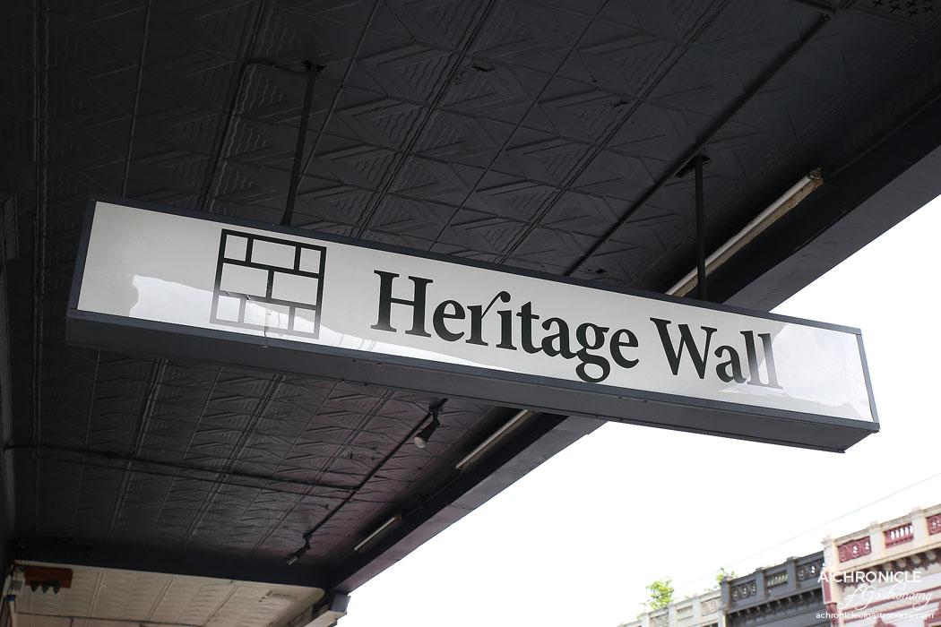Heritage Wall