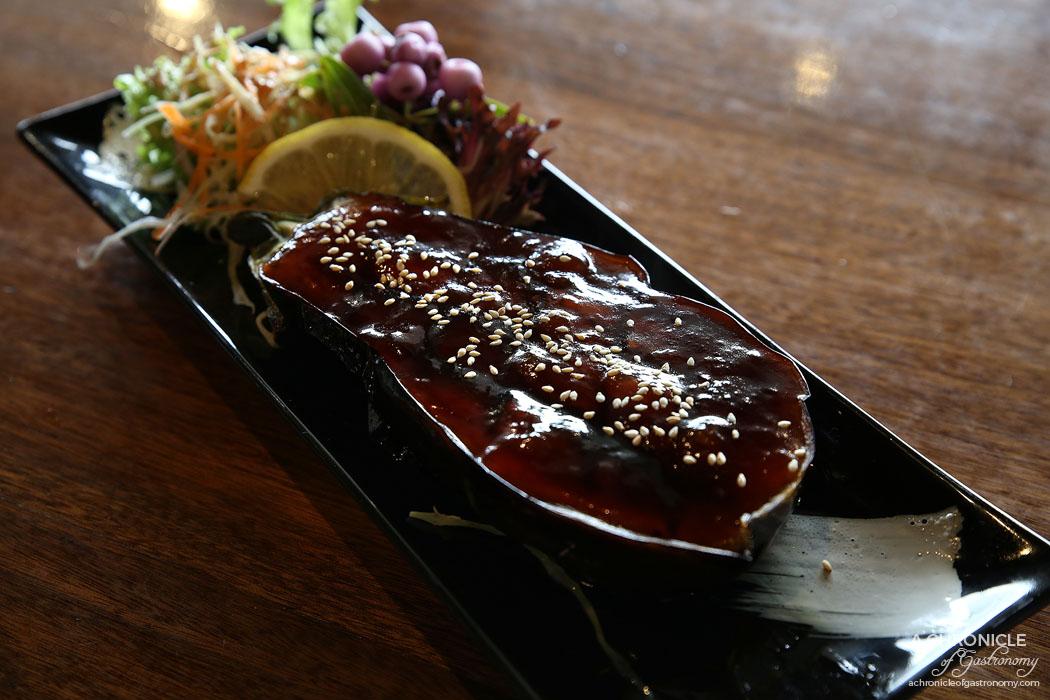 Nobori - Nasu dengaku - Deep fried eggplant w sweet sour sauce ($8.50)